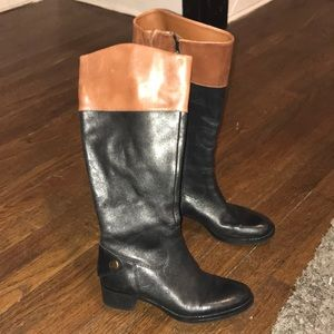 Size 6 Franco sarto black and brown boots
